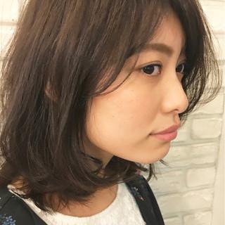 大人女子 ミディアム ガーリー 簡単 ヘアスタイルや髪型の写真・画像