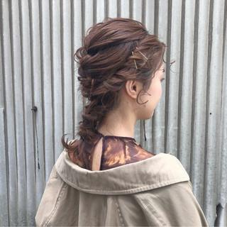 成人式 セミロング ガーリー 結婚式 ヘアスタイルや髪型の写真・画像