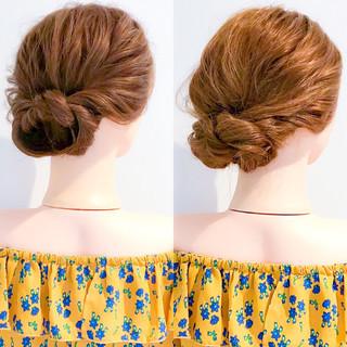 上品 ヘアアレンジ 簡単ヘアアレンジ エレガント ヘアスタイルや髪型の写真・画像