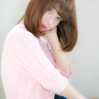 レイヤーカット 縮毛矯正 ナチュラル ストレート ヘアスタイルや髪型の写真・画像