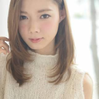 モテ髪 コンサバ ストレート ナチュラル ヘアスタイルや髪型の写真・画像