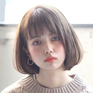 アンニュイほつれヘア ミニボブ ナチュラル 切りっぱなしボブ ヘアスタイルや髪型の写真・画像