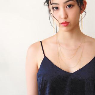 黒髪 ヘアアレンジ ショート ナチュラル ヘアスタイルや髪型の写真・画像 ヘアスタイルや髪型の写真・画像