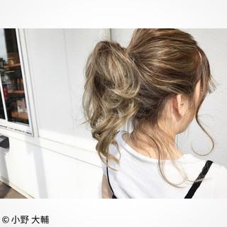 外国人風カラー ミディアム ハイライト グラデーションカラー ヘアスタイルや髪型の写真・画像