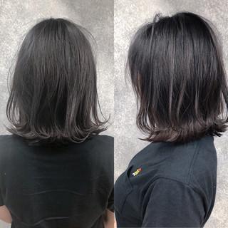 ボブ 黒髪 縮毛矯正 ナチュラル ヘアスタイルや髪型の写真・画像