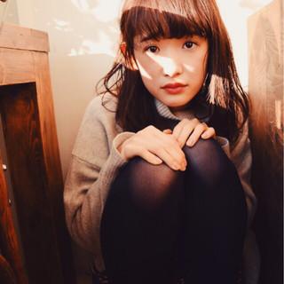 簡単 パーマ 暗髪 外国人風 ヘアスタイルや髪型の写真・画像