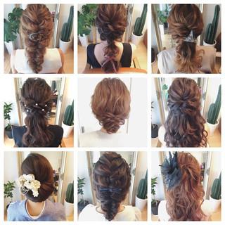 結婚式 大人かわいい ロング ブライダル ヘアスタイルや髪型の写真・画像