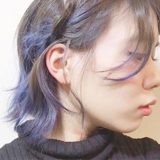 ボブ ストリート ウルフカット 色気 ヘアスタイルや髪型の写真・画像