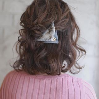簡単ヘアアレンジ ショート ヘアアレンジ 大人女子 ヘアスタイルや髪型の写真・画像