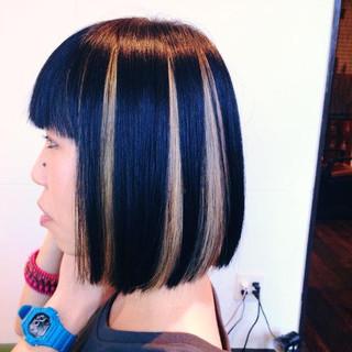 黒髪 ストリート ダブルカラー ハイライト ヘアスタイルや髪型の写真・画像
