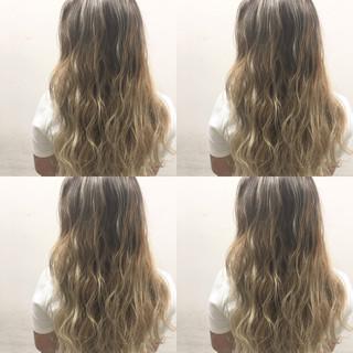 ハイライト 外国人風 アッシュ ブラウン ヘアスタイルや髪型の写真・画像