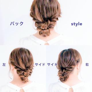 ヘアアレンジ フェミニン セルフアレンジ ロング ヘアスタイルや髪型の写真・画像