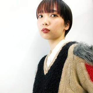 サイエンスアクア ミニボブ ピンク ボブ ヘアスタイルや髪型の写真・画像