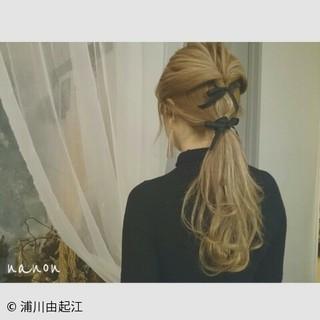 ゆるふわ デート 簡単ヘアアレンジ ロング ヘアスタイルや髪型の写真・画像