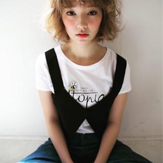 ゆるふわ 大人女子 ボブ ナチュラル ヘアスタイルや髪型の写真・画像