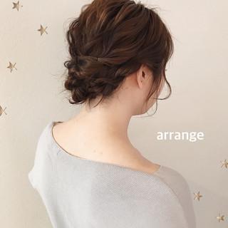 ナチュラル ミディアム ヘアアレンジ 結婚式ヘアアレンジ ヘアスタイルや髪型の写真・画像