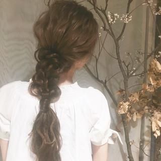 ウェーブ ナチュラル ポニーテール アンニュイ ヘアスタイルや髪型の写真・画像 ヘアスタイルや髪型の写真・画像