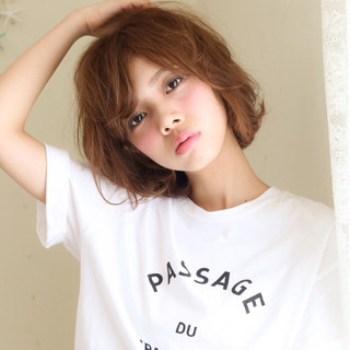 ゆるふわ ショート くせ毛風 前髪あり ヘアスタイルや髪型の写真・画像 ヘアスタイルや髪型の写真・画像
