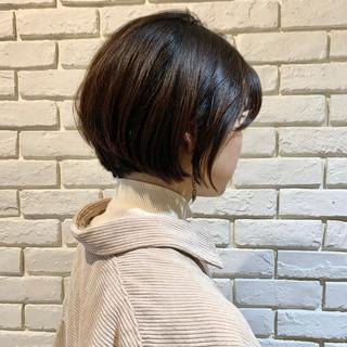 小顔 ナチュラル 小顔ヘア 小顔ショート ヘアスタイルや髪型の写真・画像