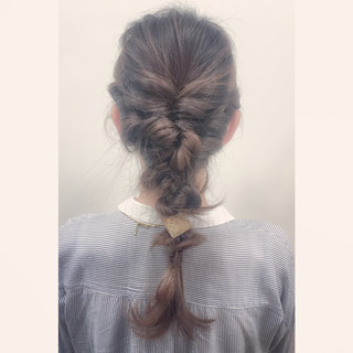 セミロング 前髪あり ハーフアップ ショート ヘアスタイルや髪型の写真・画像