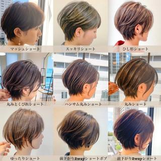 ナチュラル ショートボブ スタイリング動画 小顔ショート ヘアスタイルや髪型の写真・画像