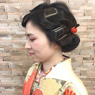ヘアアレンジ 謝恩会 ウェーブ アップスタイル ヘアスタイルや髪型の写真・画像