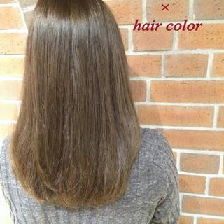 セミロング ゆるふわ ナチュラル ブラウン ヘアスタイルや髪型の写真・画像