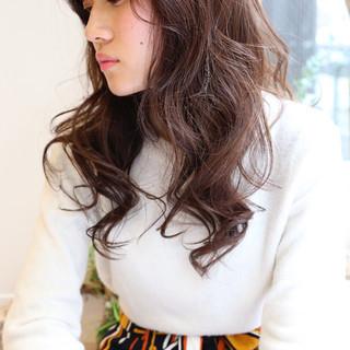 ロング 冬 コンサバ ゆるふわ ヘアスタイルや髪型の写真・画像