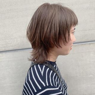 ウルフカット ナチュラル 透明感 ブリーチなし ヘアスタイルや髪型の写真・画像