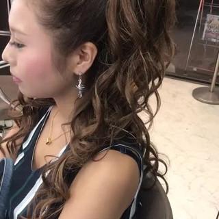 デート ロング ガーリー パーティ ヘアスタイルや髪型の写真・画像
