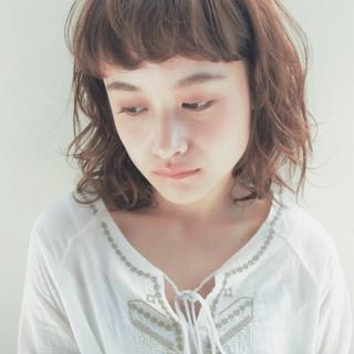 ゆるふわ 前髪あり 抜け感 大人かわいい ヘアスタイルや髪型の写真・画像