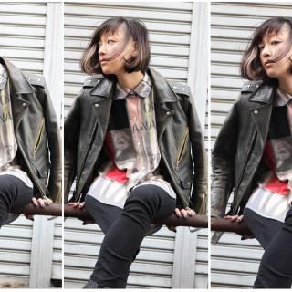 ストリート グラデーションカラー カラフルカラー ボブ ヘアスタイルや髪型の写真・画像
