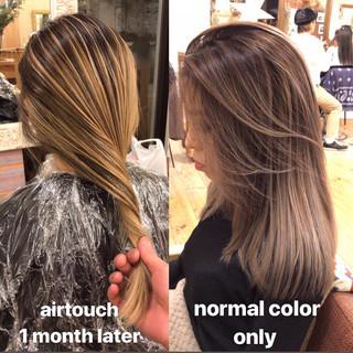外国人風 外国人風カラー 3Dハイライト ナチュラル ヘアスタイルや髪型の写真・画像