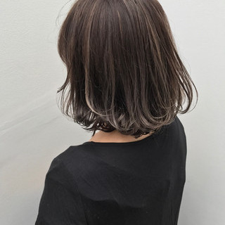 ストリート ボブ アウトドア 簡単ヘアアレンジ ヘアスタイルや髪型の写真・画像