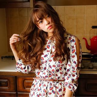 ゆるふわ ピュア ガーリー ロング ヘアスタイルや髪型の写真・画像