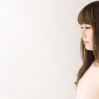 ロング グラデーションカラー 外国人風 ガーリー ヘアスタイルや髪型の写真・画像