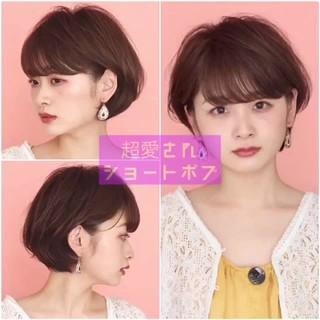 ショート フェミニン ヘアアレンジ 簡単ヘアアレンジ ヘアスタイルや髪型の写真・画像