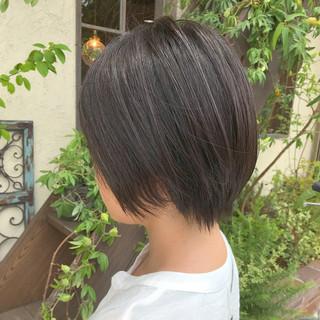 デート ショート 黒髪 ショートボブ ヘアスタイルや髪型の写真・画像