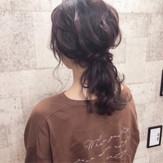 アンニュイほつれヘア セミロング ナチュラル デート ヘアスタイルや髪型の写真・画像 ヘアスタイルや髪型の写真・画像