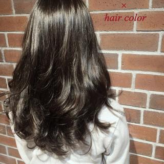 黒髪 グラデーションカラー アッシュ 外国人風 ヘアスタイルや髪型の写真・画像