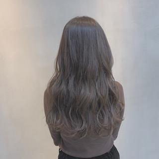 ラベンダーグレージュ 透明感カラー グレージュ ナチュラル ヘアスタイルや髪型の写真・画像 ヘアスタイルや髪型の写真・画像