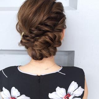 ロング 簡単ヘアアレンジ アッシュ ハーフアップ ヘアスタイルや髪型の写真・画像