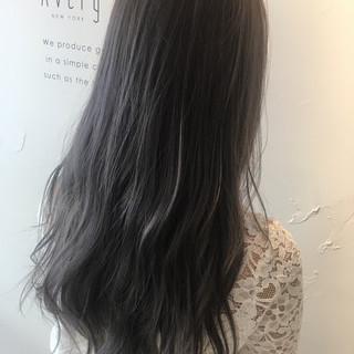 透明感 ロング ブリーチ ストリート ヘアスタイルや髪型の写真・画像