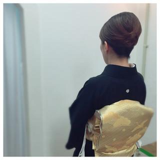 着物 ミディアム アップスタイル 結婚式 ヘアスタイルや髪型の写真・画像 ヘアスタイルや髪型の写真・画像