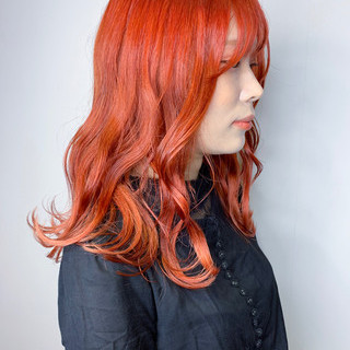 インナーカラー イルミナカラー セミロング アディクシーカラー ヘアスタイルや髪型の写真・画像