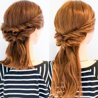 エレガント ヘアアレンジ ロング ショート ヘアスタイルや髪型の写真・画像