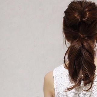 ヘアアレンジ 大人かわいい 外国人風 ミディアム ヘアスタイルや髪型の写真・画像