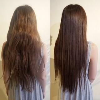 ナチュラル 最新トリートメント ロング 髪質改善トリートメント ヘアスタイルや髪型の写真・画像