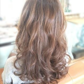 ゆるふわ ミルクティー 簡単ヘアアレンジ セミロング ヘアスタイルや髪型の写真・画像