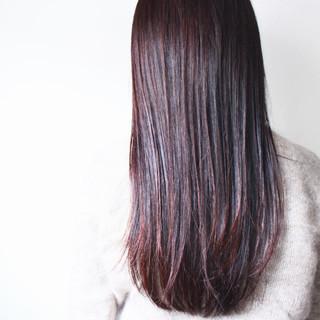 ロング アンニュイ ピンク アッシュバイオレット ヘアスタイルや髪型の写真・画像